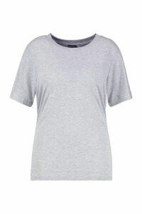 Womens Plus Basic Cap Sleeve T-Shirt - grey - 18, Grey