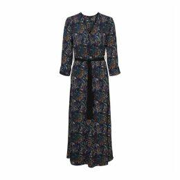 Wrapover Maxi Dress in Paisley Print