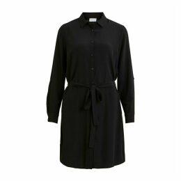 Short Shirt Dress with Tie-Waist