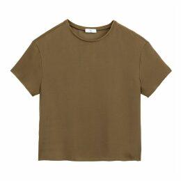 Short-Sleeved Round-Neck Blouse