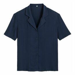 Tailored-Collar Short-Sleeved Shirt