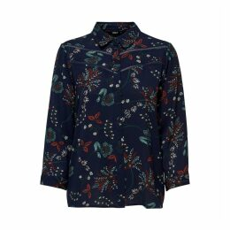 Floral Print Blouse with 3/4 Length Sleeves