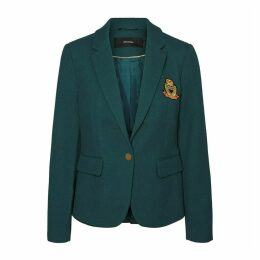 Single-Breasted Blazer with Patch