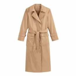 Long Cotton Press-Stud Trench