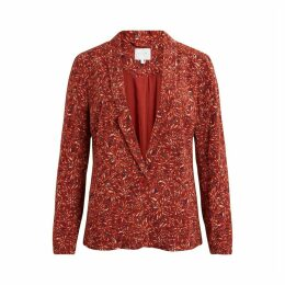 Single-Breasted Blazer in Floral Print