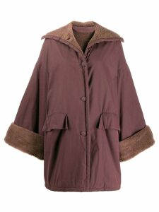 Romeo Gigli Pre-Owned 1990's loose padded coat - PURPLE