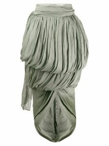 Romeo Gigli Pre-Owned 1990's draped midi skirt - Green