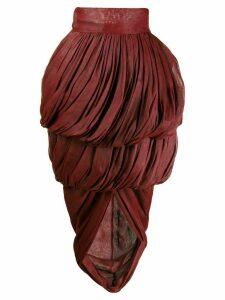 Romeo Gigli Pre-Owned 1990's draped layered skirt