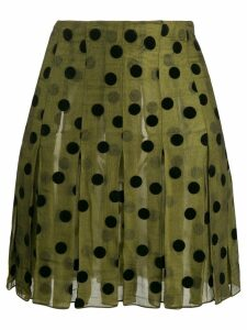 Romeo Gigli Pre-Owned 1990's polka dots pleated skirt - Green