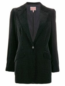 Romeo Gigli Pre-Owned 1997 polka dotted slim blazer - Black