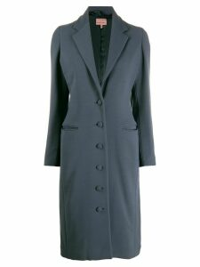 Romeo Gigli Pre-Owned 1996 fitted midi buttoned coat - Blue