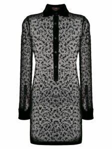 Romeo Gigli Pre-Owned 1997 sheer shirt dress - Black