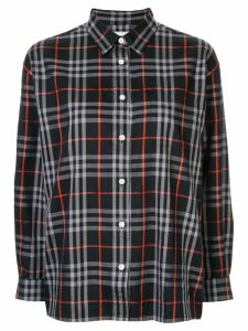 Burberry Pre-Owned check boxy shirt - Blue