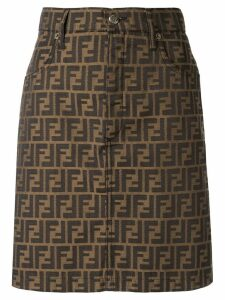 Fendi Pre-Owned FF pattern skirt - Brown