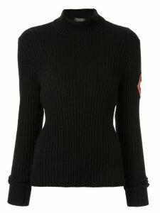 Chanel Pre-Owned ribbed mock neck jumper - Black