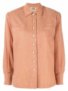 Hermès Pre-Owned logo buttons straight shirt - Pink