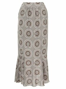Chanel Pre-Owned geometric print skirt - Grey