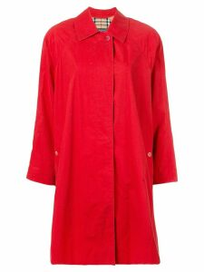 Burberry Pre-Owned A-line buttoned coat - Red