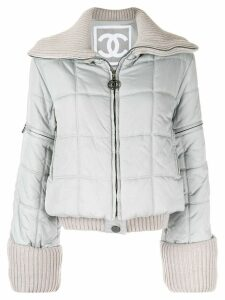 Chanel Pre-Owned Sports Line padded coat - Grey