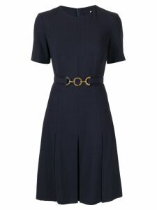 Céline Pre-Owned chain belt mini dress - Blue
