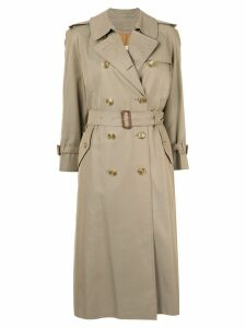 Burberry Pre-Owned double-breasted trench coat - NEUTRALS