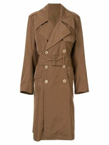 Yves Saint Laurent Pre-Owned double-breasted trench coat - Brown