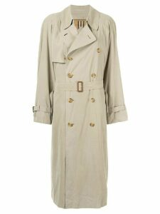 Burberry Pre-Owned belted trench coat - Neutrals