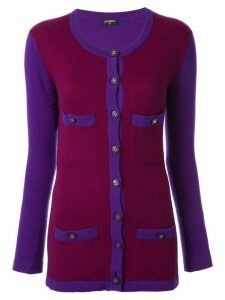 Chanel Pre-Owned two-tone knitted cardigan - Purple