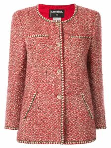 Chanel Pre-Owned bouclé tweed jacket - Red