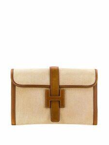 Hermès Pre-Owned 1986's Jige clutch - Brown