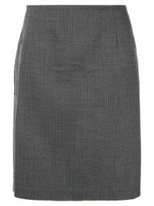 Comme Des Garçons Pre-Owned camouflage patch A-line skirt - Grey