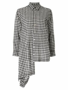 Comme Des Garçons Pre-Owned gingham check wrap skirt - Black