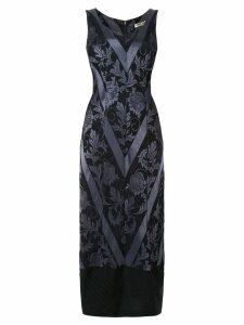Comme Des Garçons Pre-Owned floral jacquard fitted dress - Blue