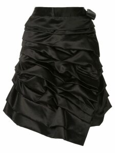 Comme Des Garçons Pre-Owned ruffled asymmetric wrap skirt - Black