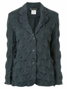 Issey Miyake Pre-Owned star padded blazer - Green