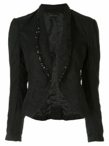 Comme Des Garçons Pre-Owned sequin embroidered fitted blazer - Black
