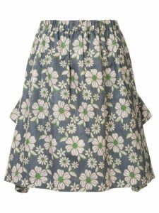 Comme Des Garçons Pre-Owned floral gathered skirt - Green