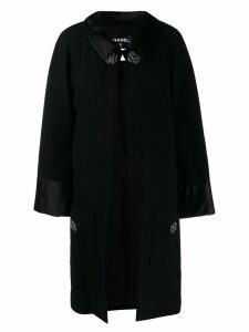 Chanel Pre-Owned buttoned collared midi coat - Black