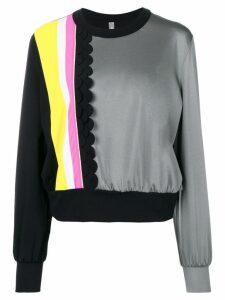 No Ka' Oi front stripes detail sports sweatshirt - Grey