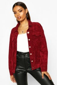 Womens Oversize Cord Jacket - red - 12, Red