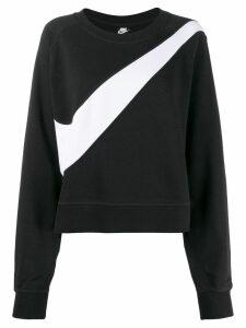 Nike swoosh logo sweatshirt - Black