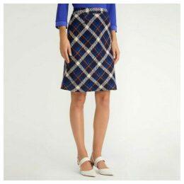 Wool Check ALine Bias Skirt