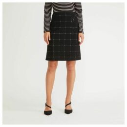 Checked Ponte ALine Skirt