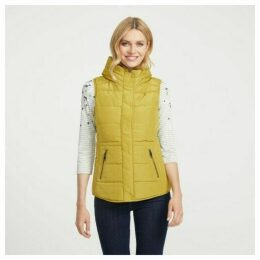 Chartreuse Ribbed and Padded Nylon Gilet
