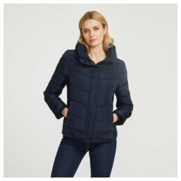 Ribbed and Padded Nylon Jacket