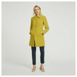 Chartreuse Crepe Button Through Coat