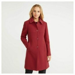 Ruby Crepe Button Through Coat