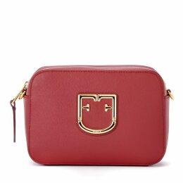 Furla Shoulder Bag Model Brava Mini In Cherry Red Leather