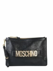 Moschino Clutch With Crystal Logo