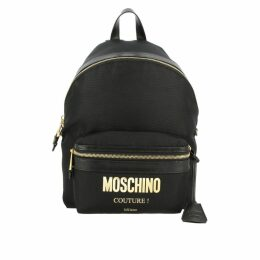Moschino Couture Backpack Moschino Couture Nylon Backpack With Laminated Maxi Logo